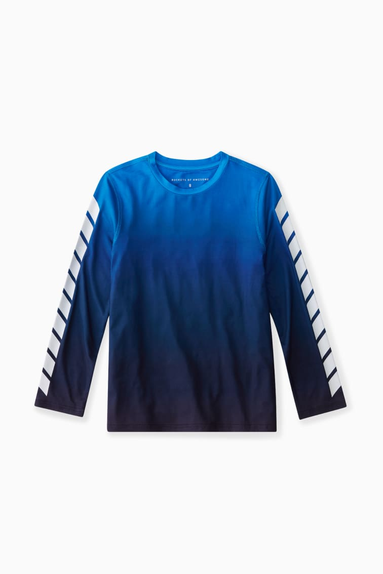Ombre Ticker Tape Active Tee front