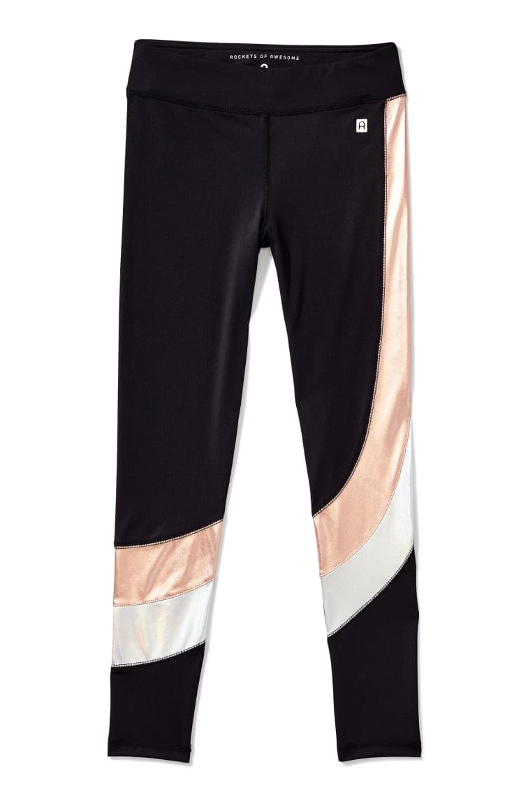 Mixed Metallic Active Legging front