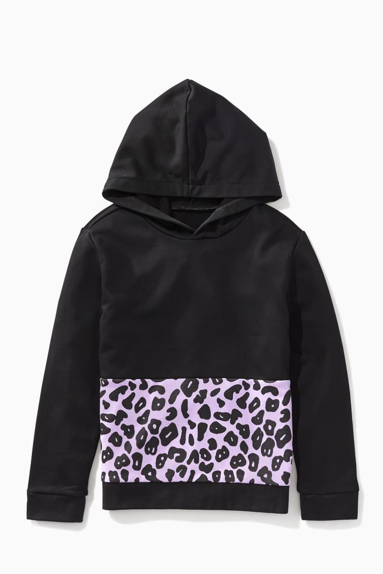 Lavender Leopard Hoodie front