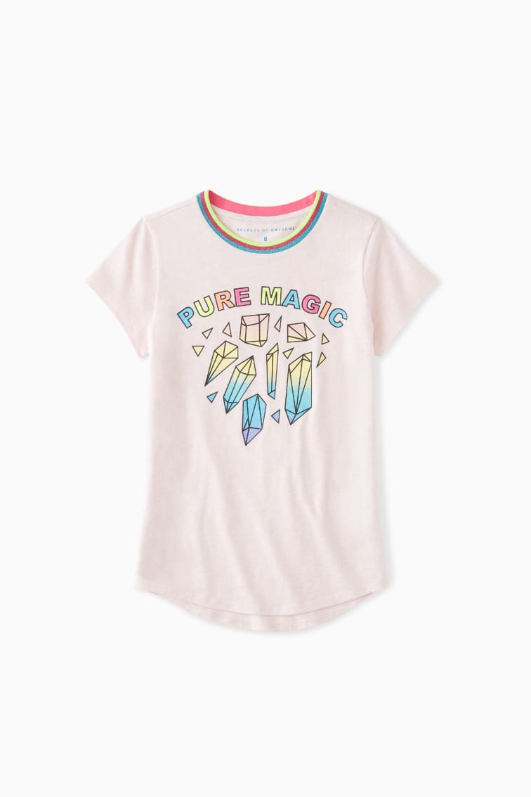 Pure Magic Glitter Tee front