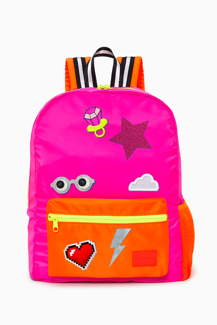 Neon Pink Backpack front