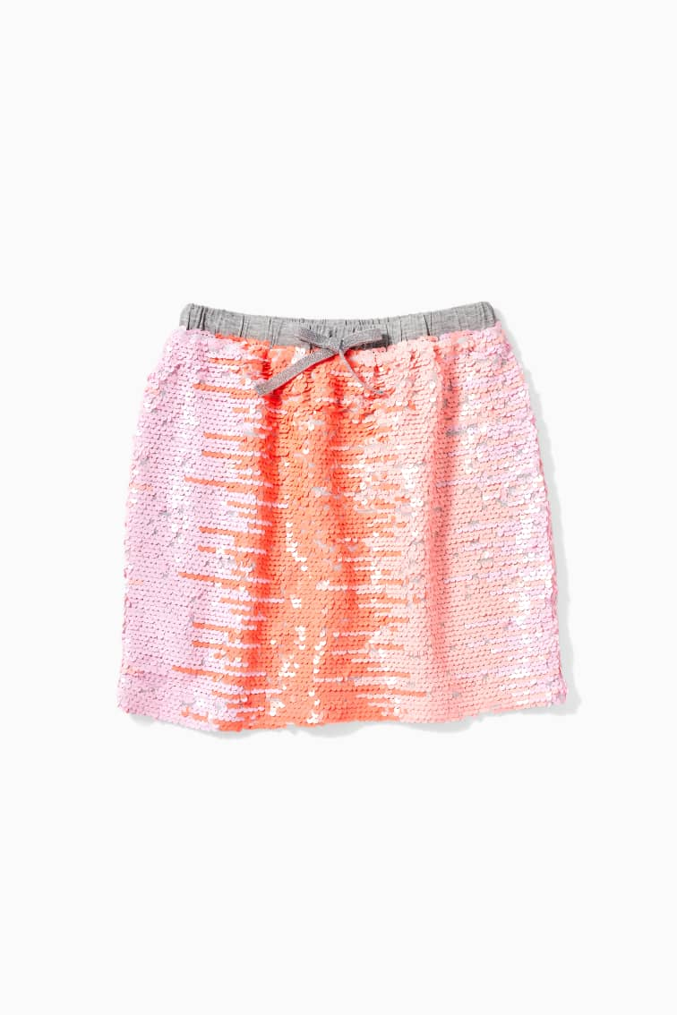 Sunset Flip Sequin Skirt front