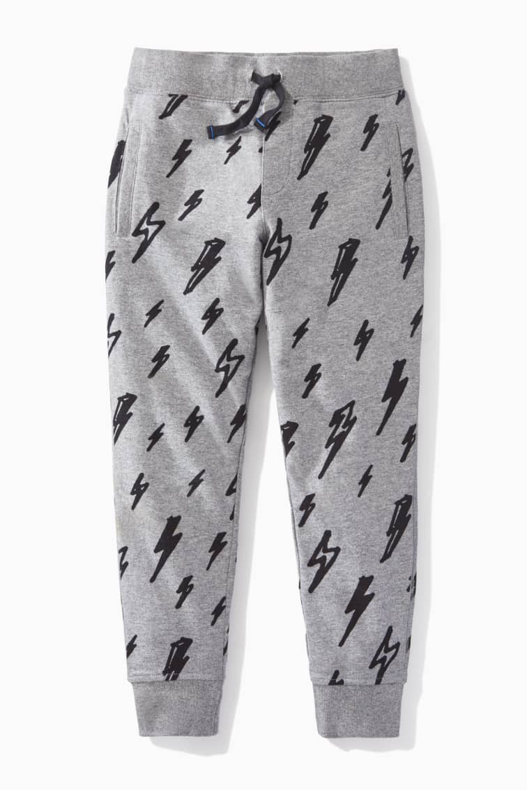 Lightning Doodle Cozy Jogger front