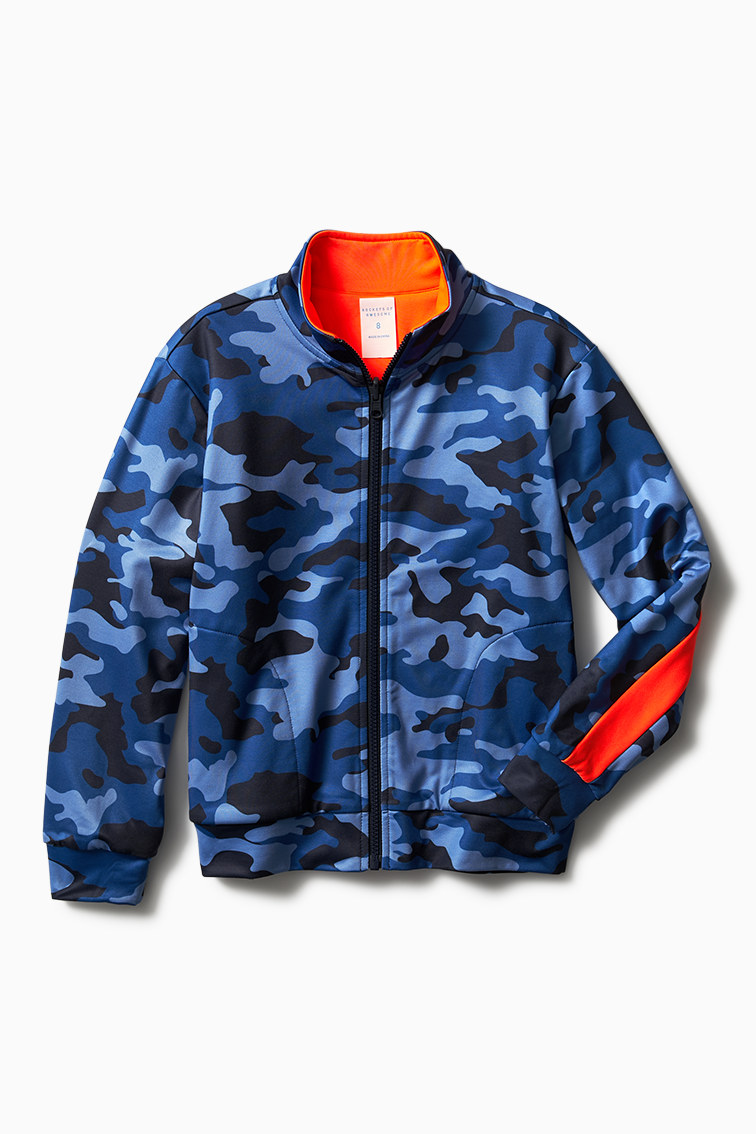 Reversible Camo Track Jacket front