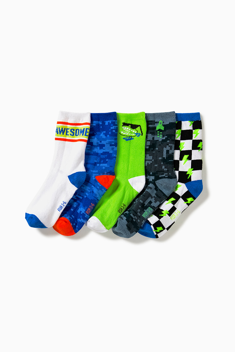 5-Pack Patterned Long Socks front