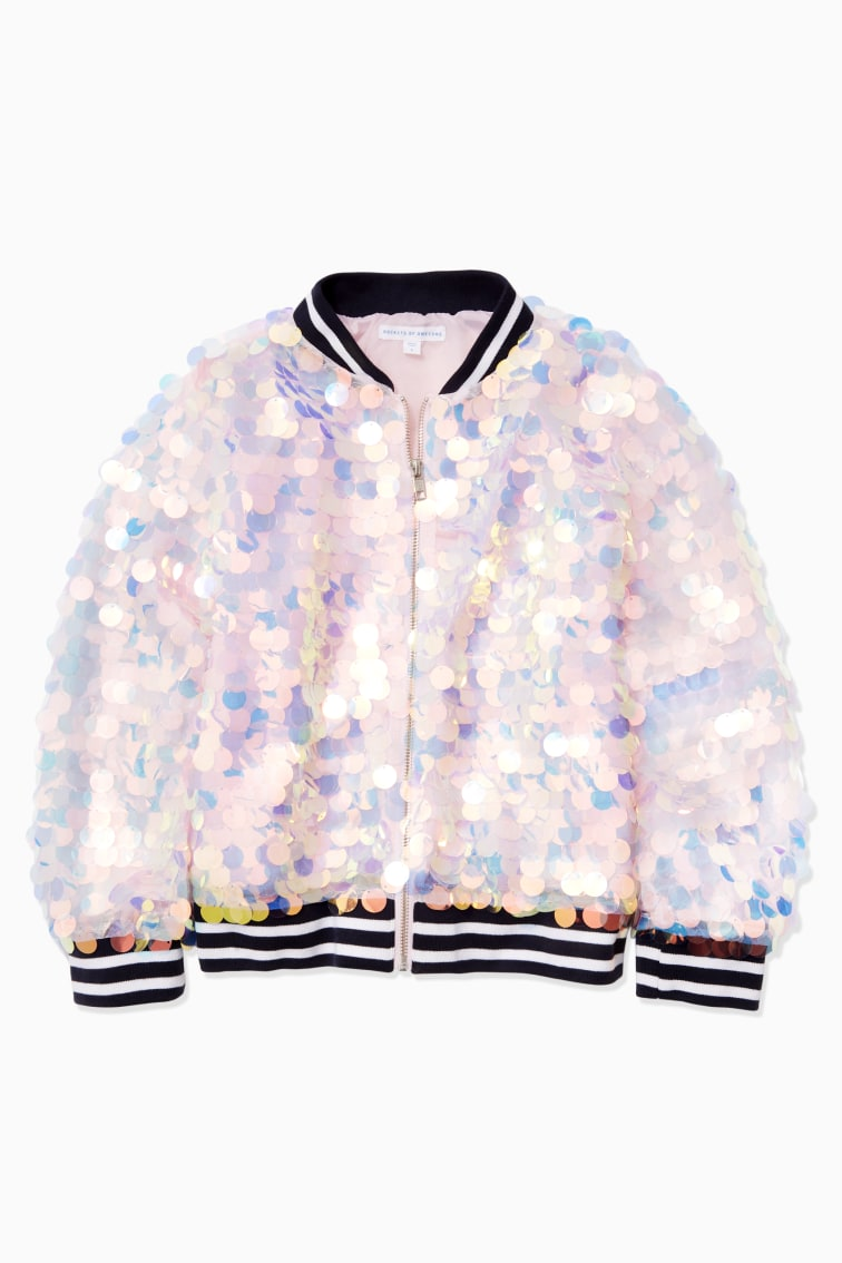 Magical Paillette Sequin Bomber front