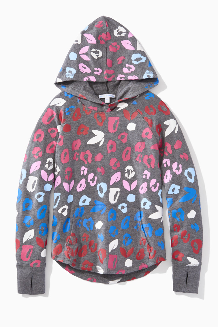 Leopard Sporty Hoodie front