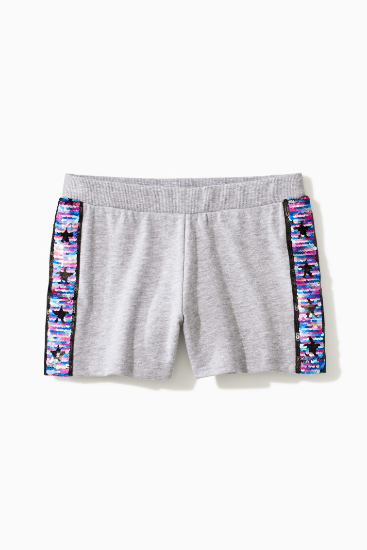 Rainbow Flip Sequin Side Stripe Short front