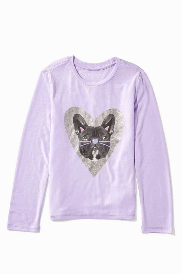 Frenchie Cat Filter Tee front