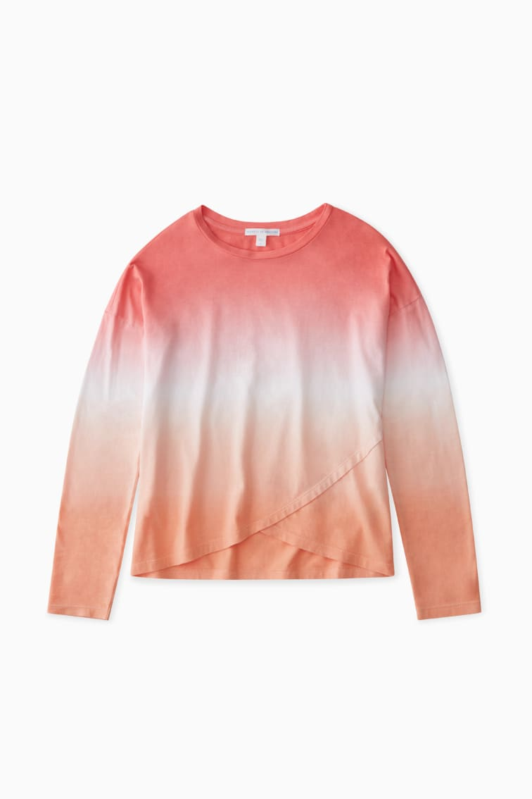 Sunset Ombre Tulip Hem Tee front