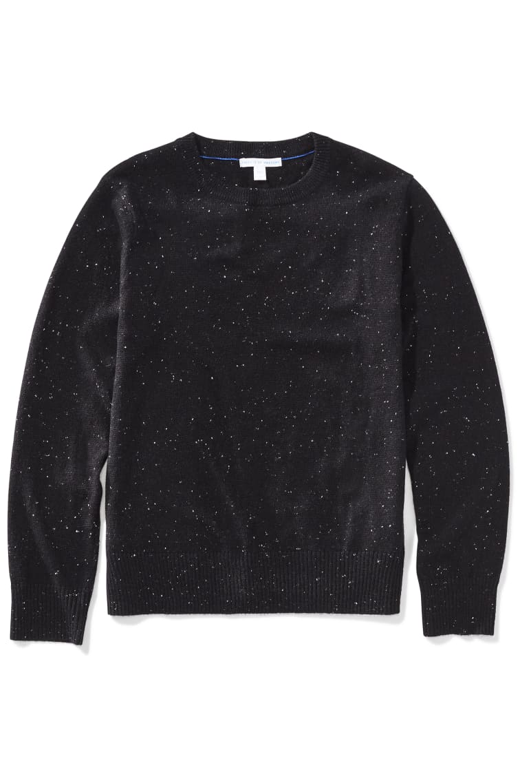 Galaxy Speckled Yarn Sweater front