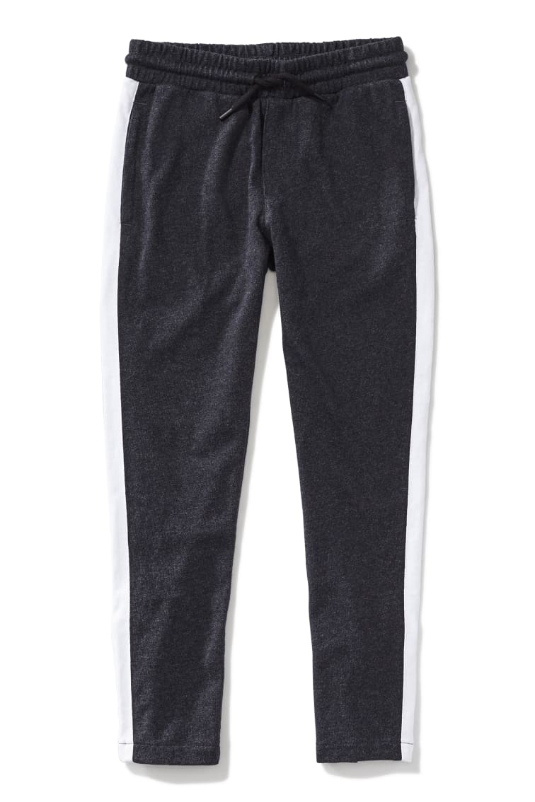 Double Stripe Ankle-Zip Jogger front