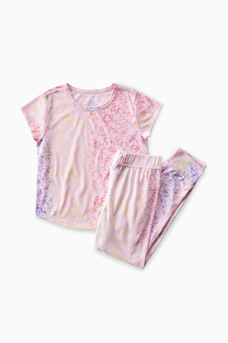 Glow In The Dark Wish Upon A Star Pajama Set front