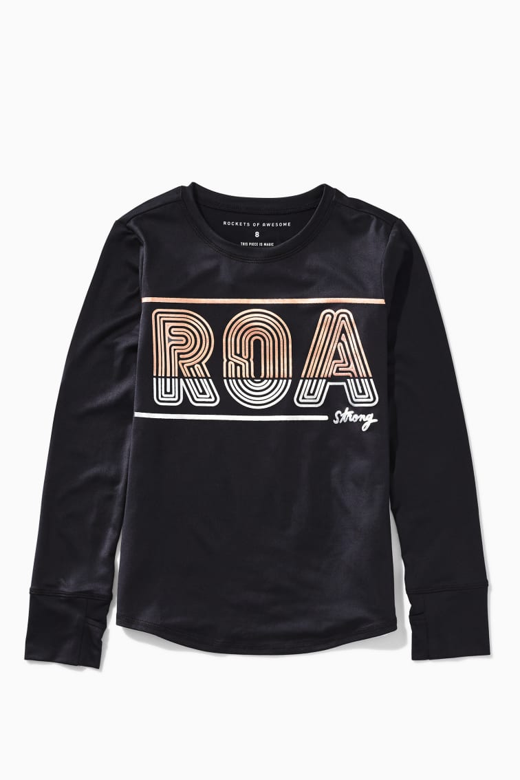 ROA Mixed Metallic Active Tee front