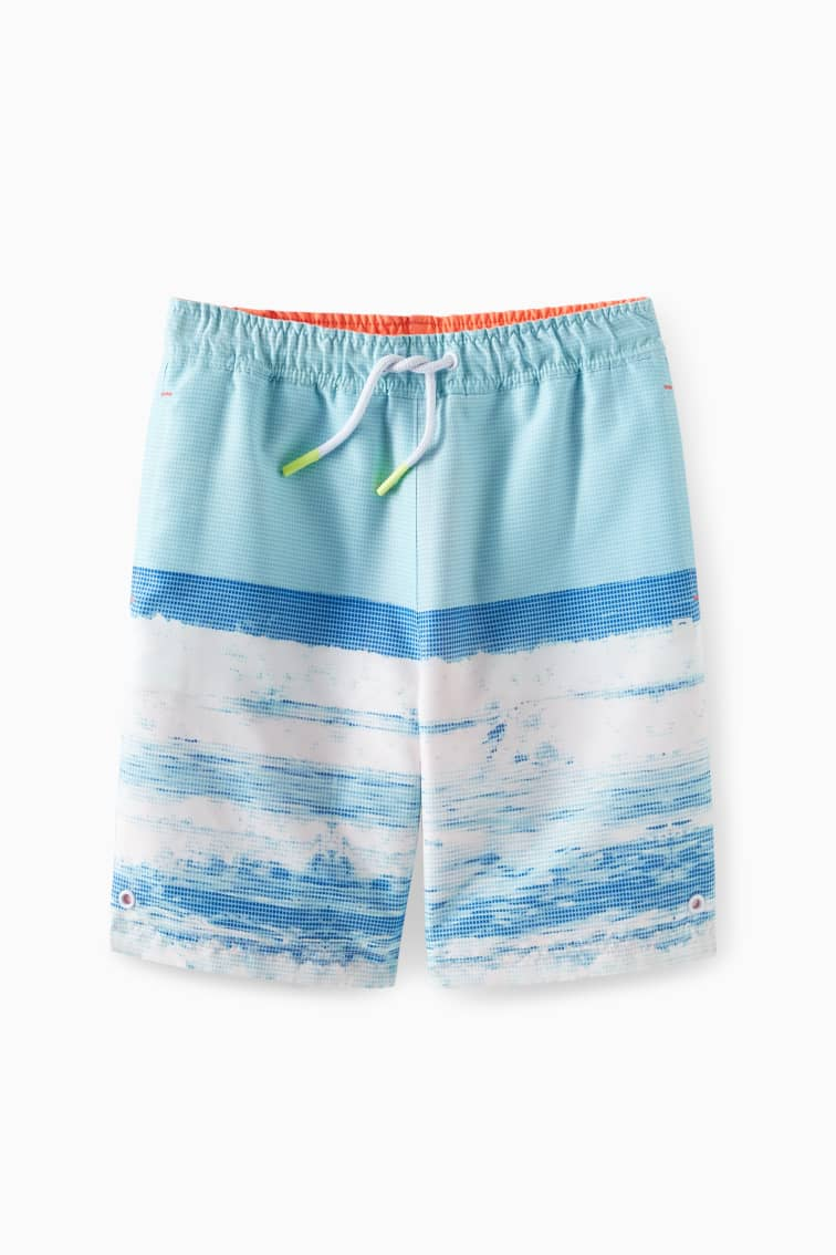 Reversible Ocean Swim Trunk front