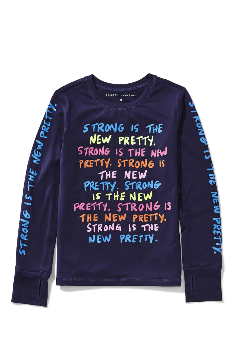 Strong Is Pretty Active Tee front