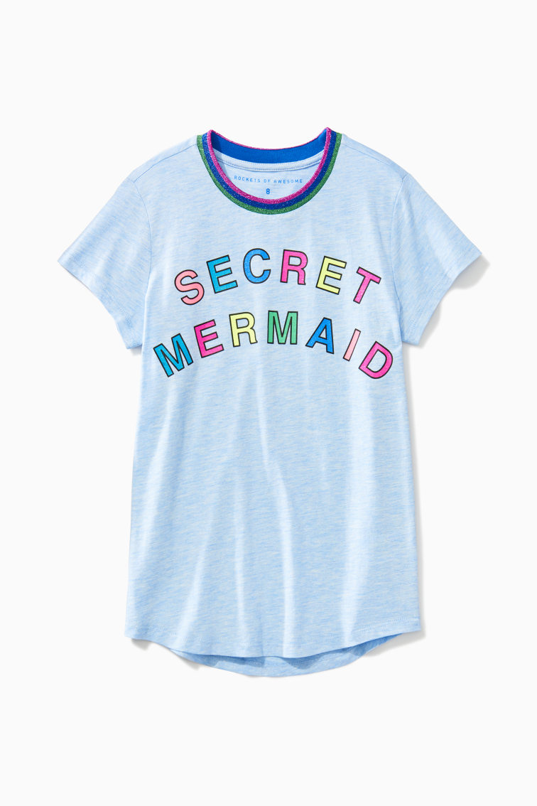 Secret Mermaid Tee front