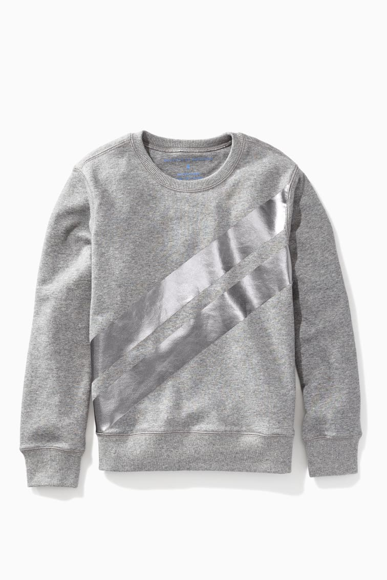 Forward Slash Metallic Sweatshirt front
