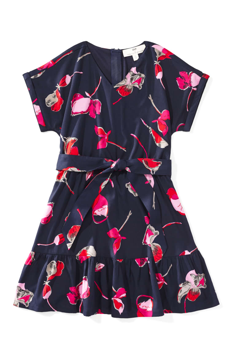 DVF X Rockets Of Awesome Floral Faux Wrap Dress front