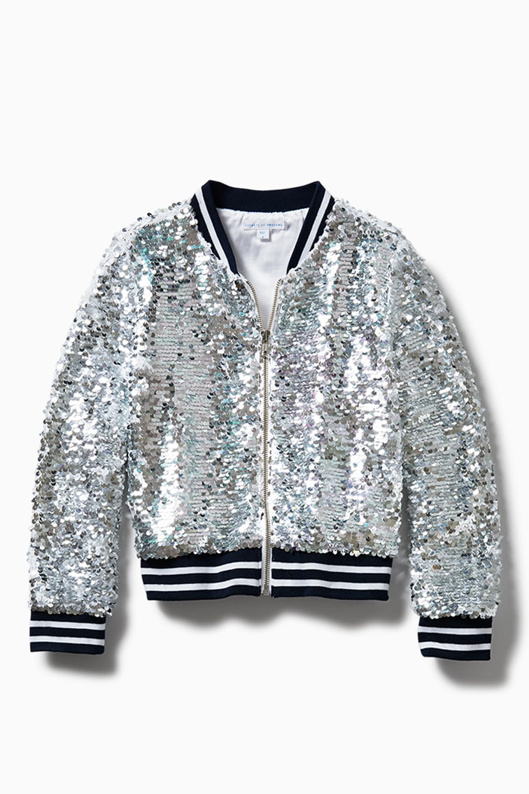 Sequin Bomber front