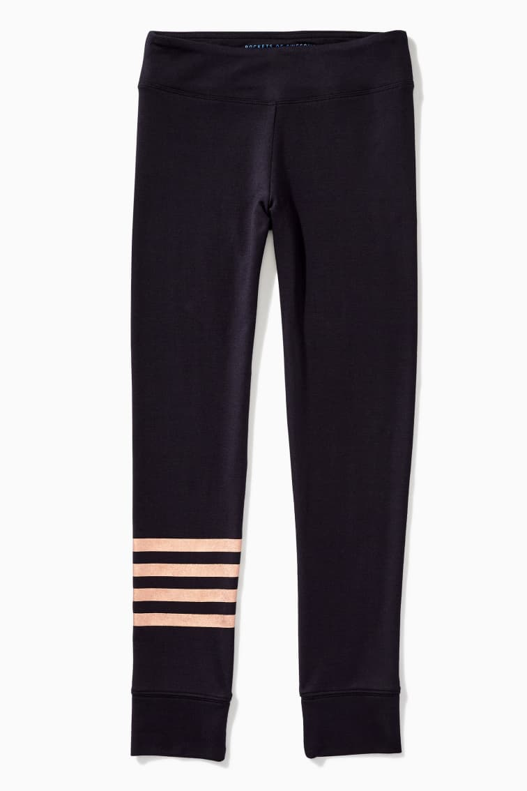 Supersoft Foil Stripe Legging front