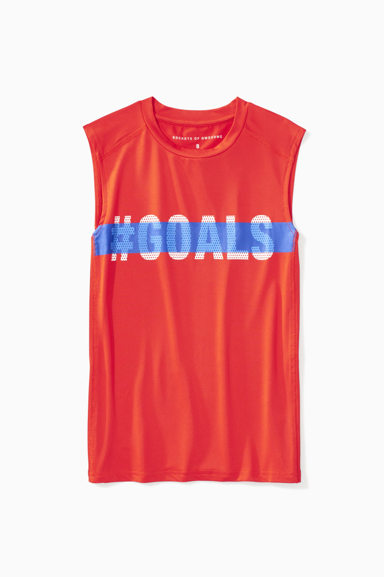 #Goals Muscle Tank front
