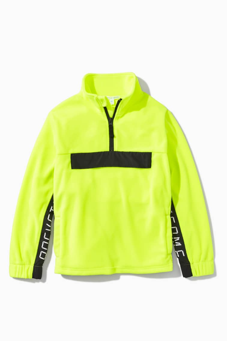 Highlighter Fleece Active Half-Zip front