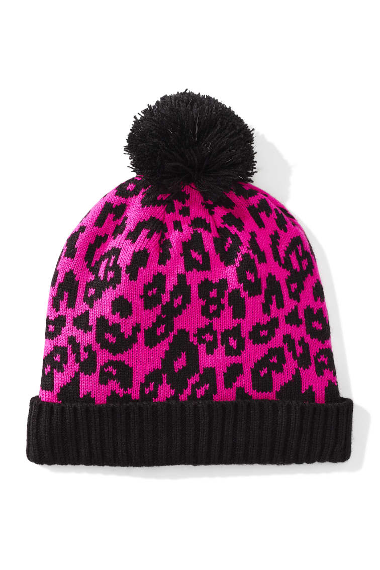 Leopard Beanie front