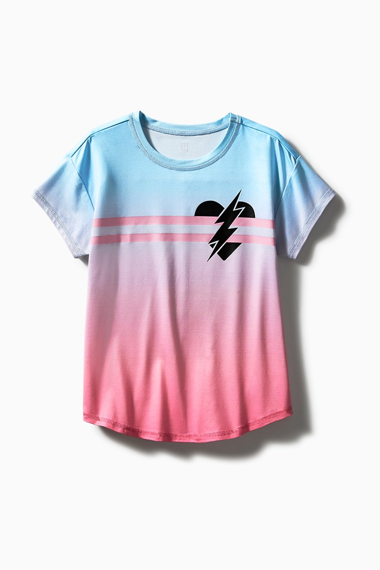 Active Heart Bolt Tee front