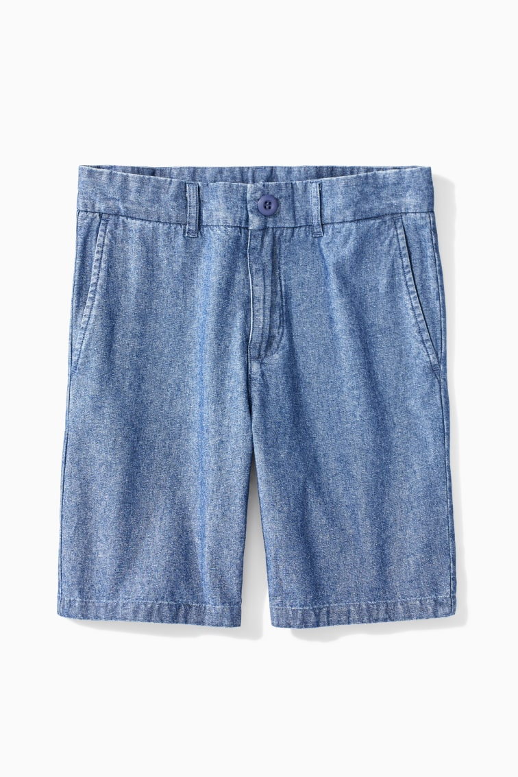 Easy Chambray Short front