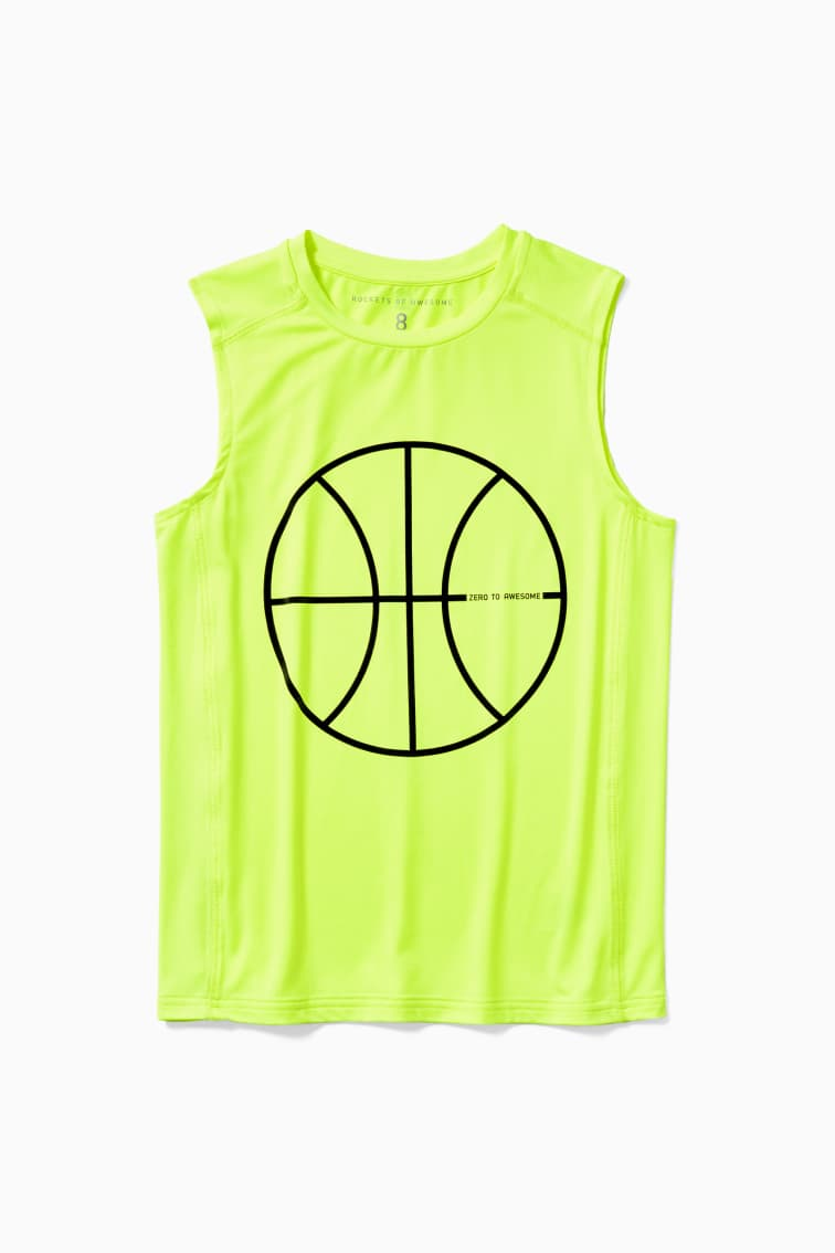 Basketball Active Muscle Tank front