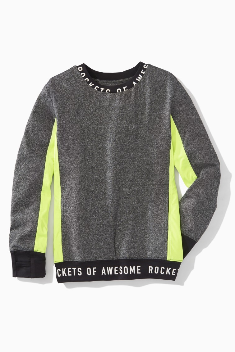 Logo Trim Colorblock Active Sweatshirt front