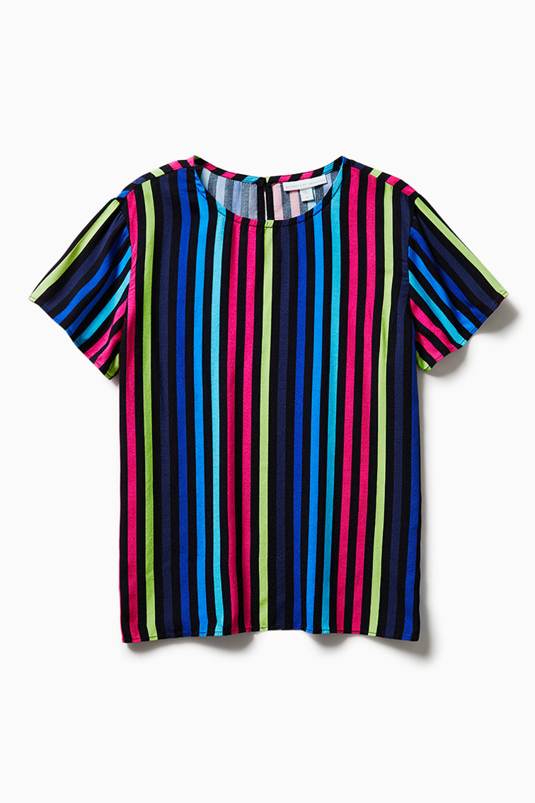 Rainbow Stripe Top front