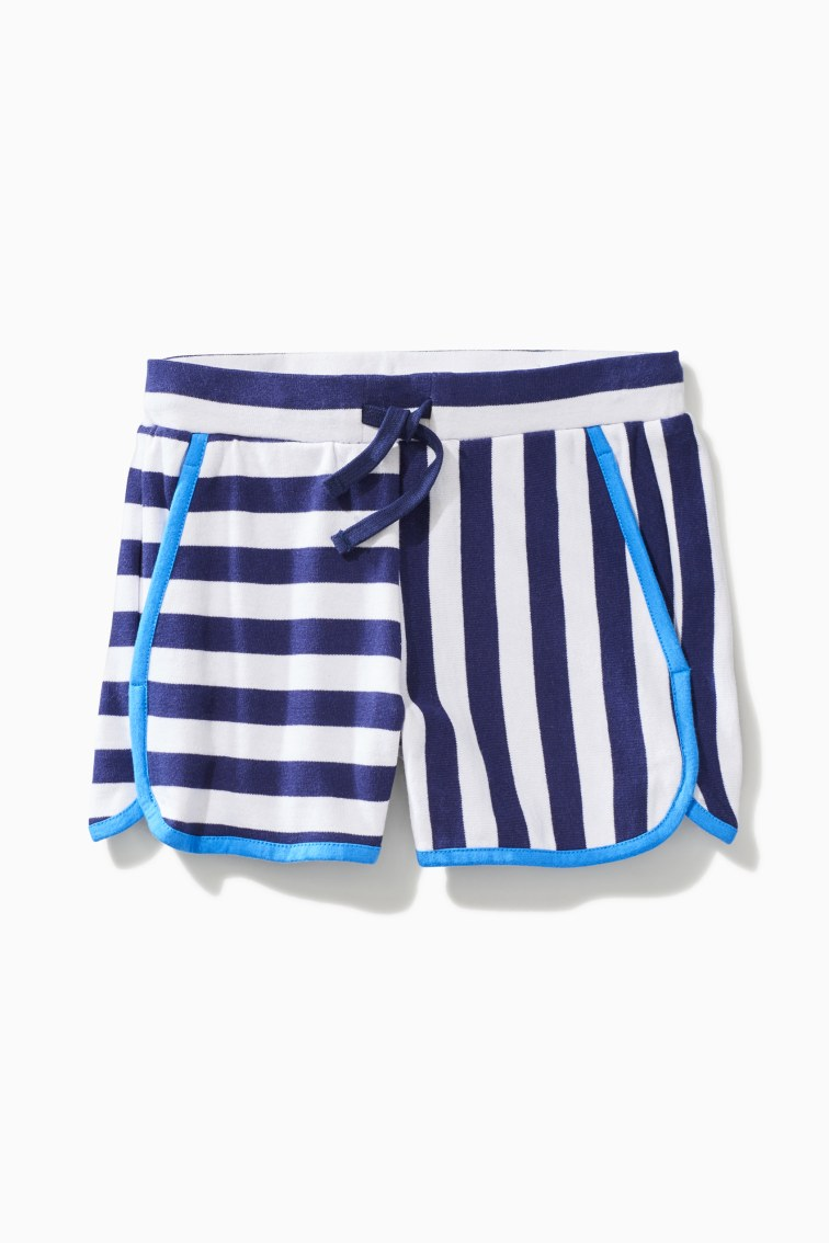 Striped Dolphin Hem Short front
