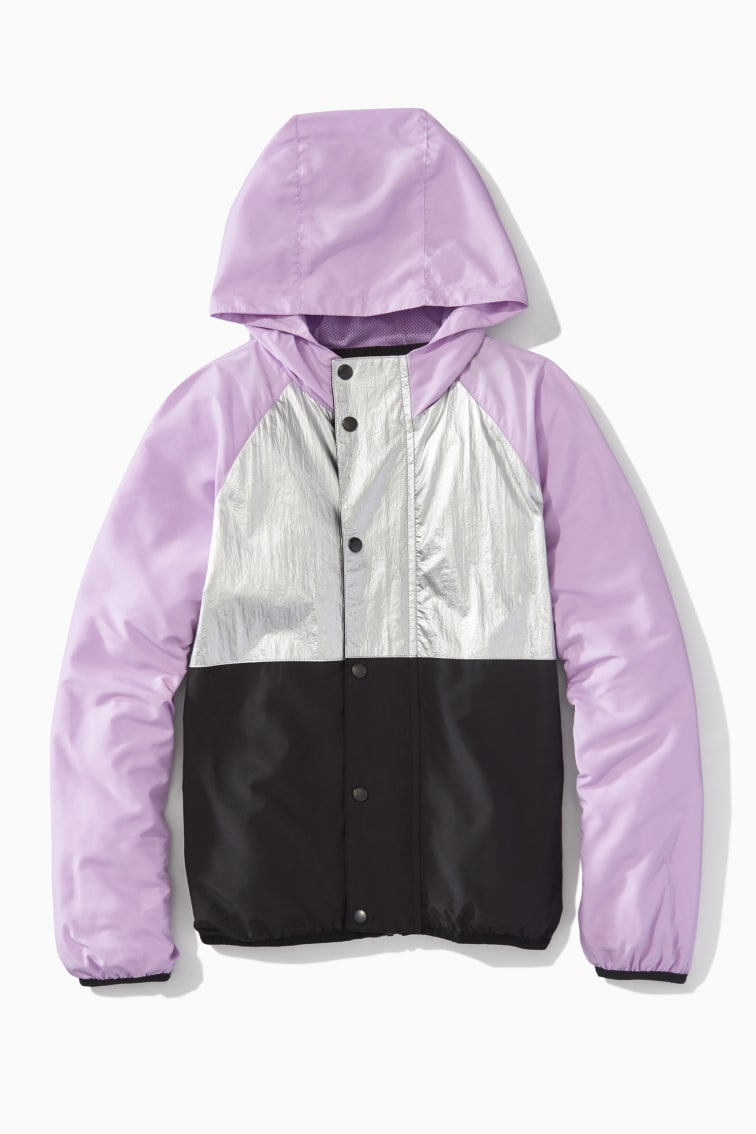 Metallic Pieced Windbreaker front