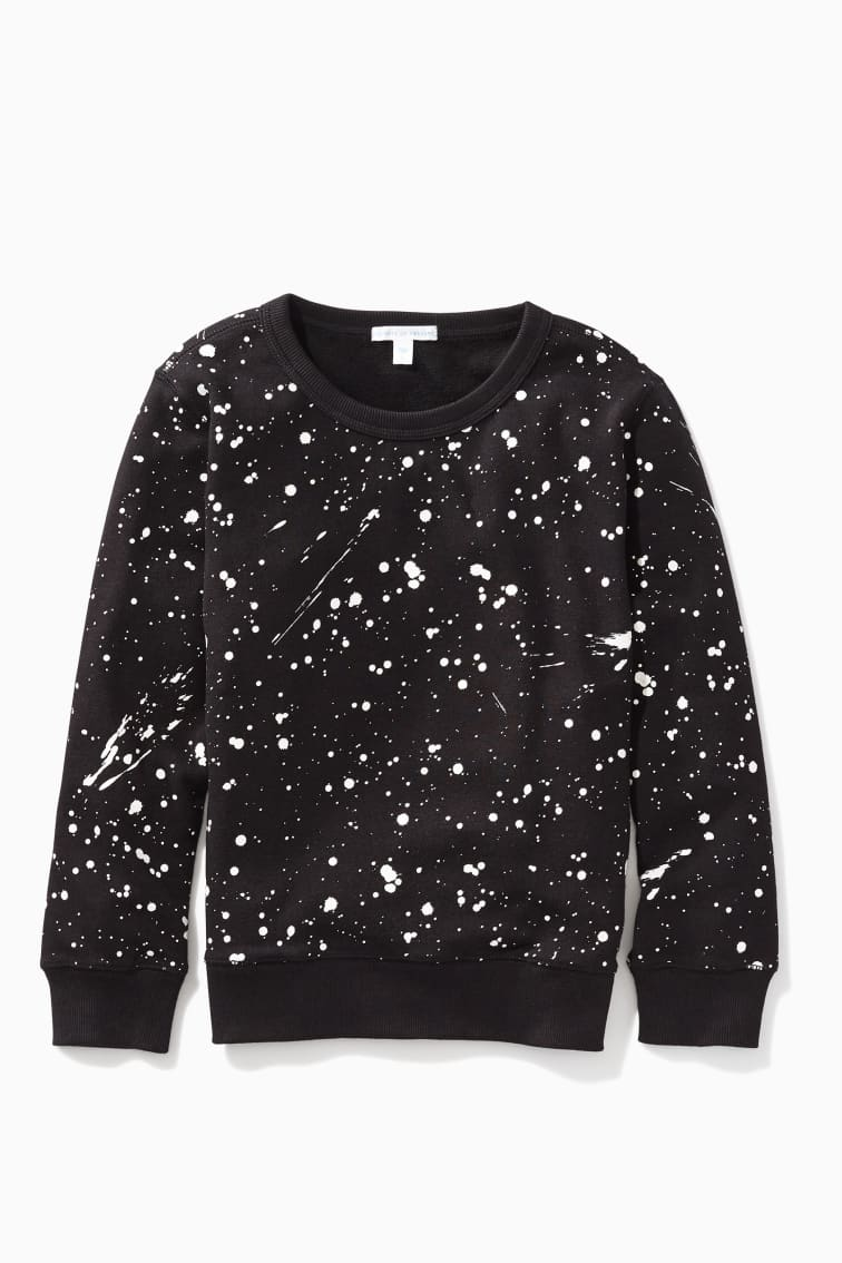 Glow-In-The-Dark Splatter Sweatshirt front