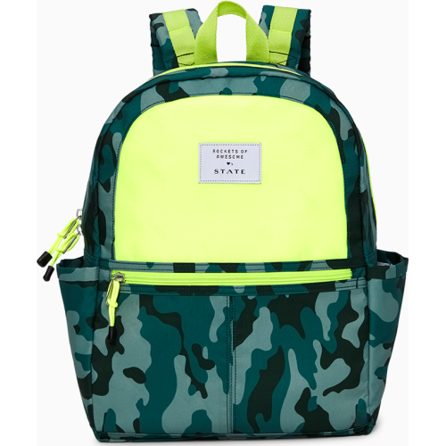 Rockets Of Awesome X State Backpack In Camo Neon