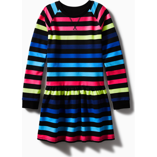 Rainbow Stripe Sweatshirt Dress